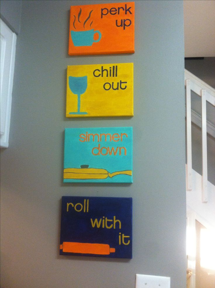 Roll With It, Simmer Down, Chill Out, U0026 Perk Up. DIY Easy Canvas Craft Foru2026