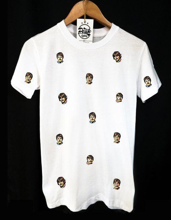 Das Beatles Muster T Shirt Etsy Shirts Clothing Tags T Shirt