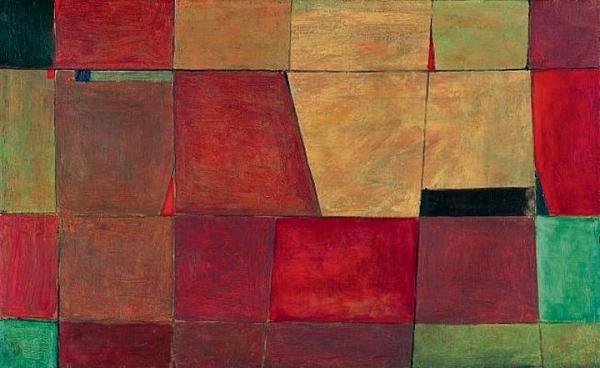 """Jerzy Nowosielski, """"Posadzka w łazience"""" / """" Flooring in the bathroom"""", olej na płótnie  / oil on canvas, 1948"""