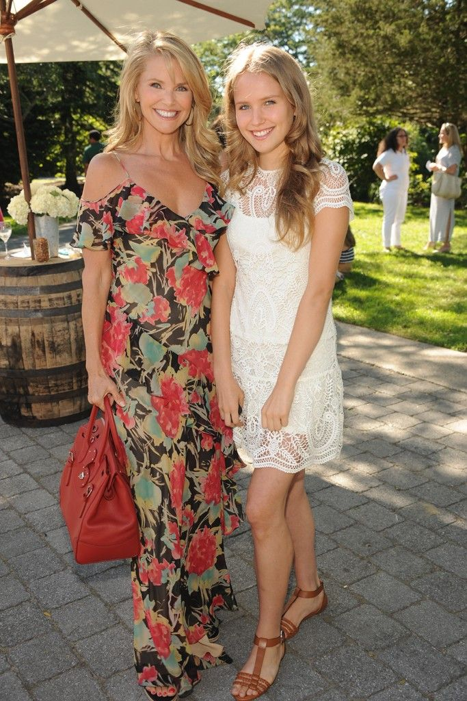 Christie Brinkley with her daughter Sailor at the Ralph Lauren Girls' Fall Runway Show.