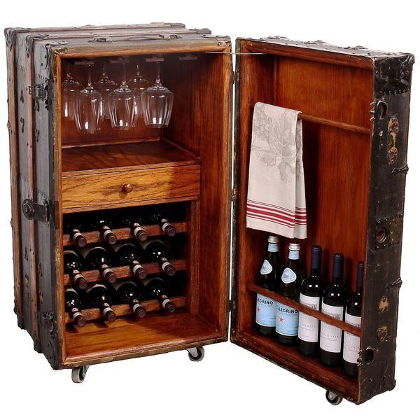 bar trunk furniture. vintage steamer trunk wine bar cabinet furniture b