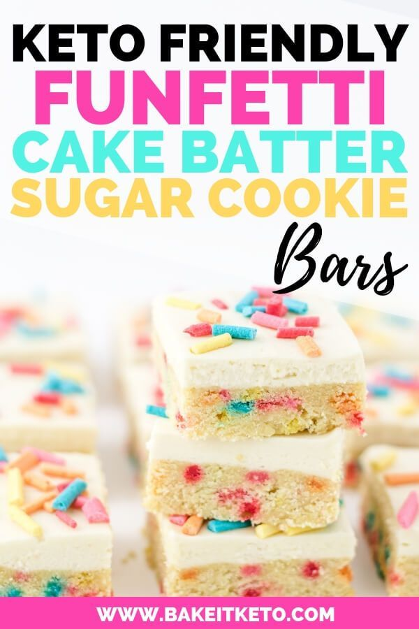 Keto Funfetti Cake Batter Sugar Cookie Bars Recipe Keto Keto