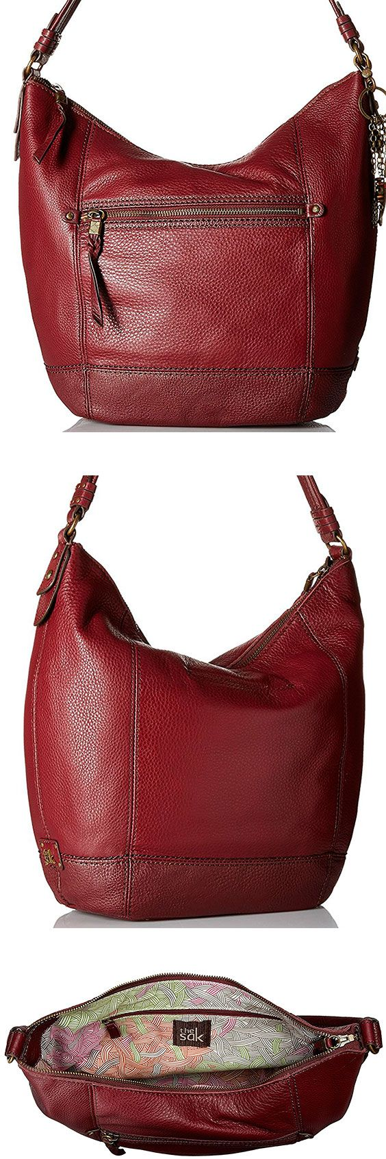 The Sak Sequoia Hobo Bag – Best Large Leather Hobo Shoulder Bag The Sequoia lives up to its namesake and comes in at a relatively large, inexpensive shoulder bag. With 11 styles to choose from, the right person will love the oversized design. #TheSAK #Leather #Baguette #Handbag #Hobo #ShoulderBag #Bag #Red