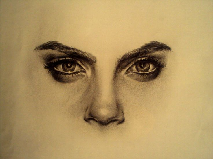 Drawing of Cara Delevingne by RaquelSmile on deviantART