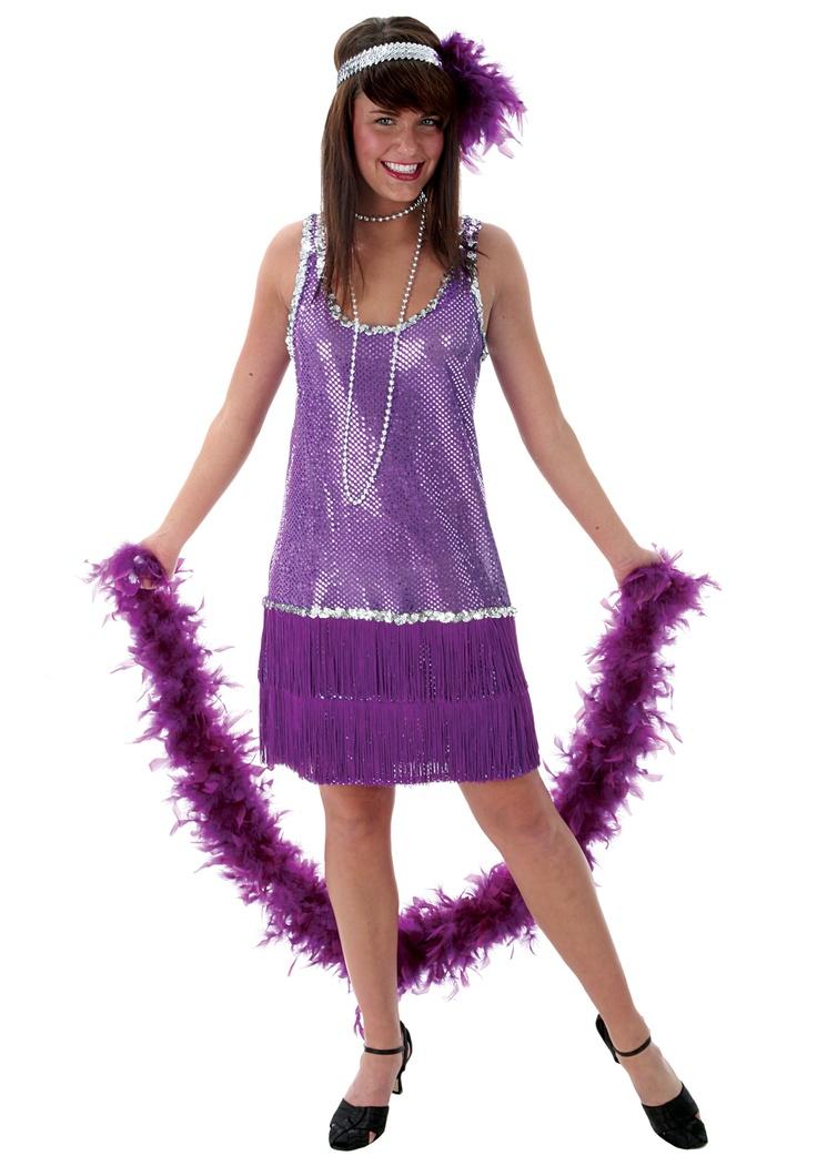 Plus Size Purple Flapper Costume