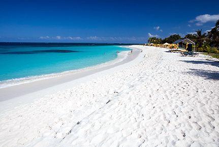 pure white beach