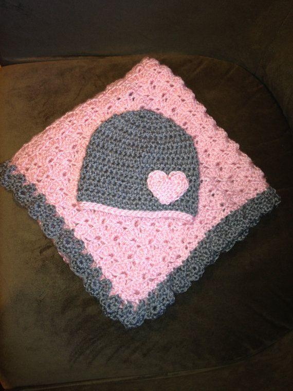 Pink and grey baby set- can be personalized