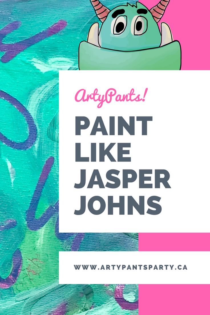 How to create your own Jasper Johns inspired artwork. Great for all ages including preschool.