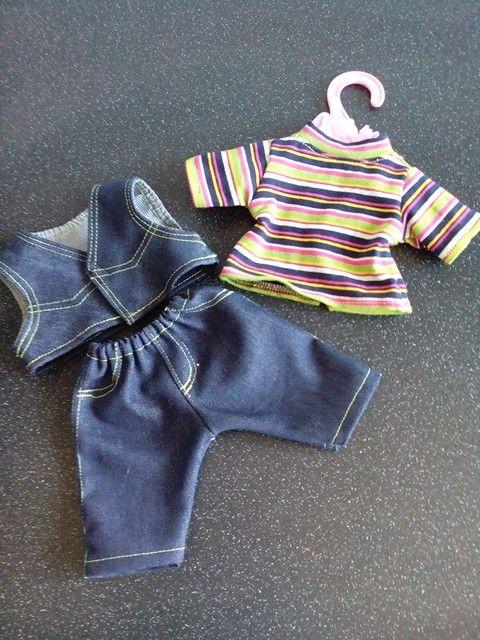 Jongenspoppen kleding voor 32cm poppen zoals little babyborn. Meer zelfgemaakte poppenkleding te zien en te bestellen via mijn fb pagina: Helma's Poppenkleding