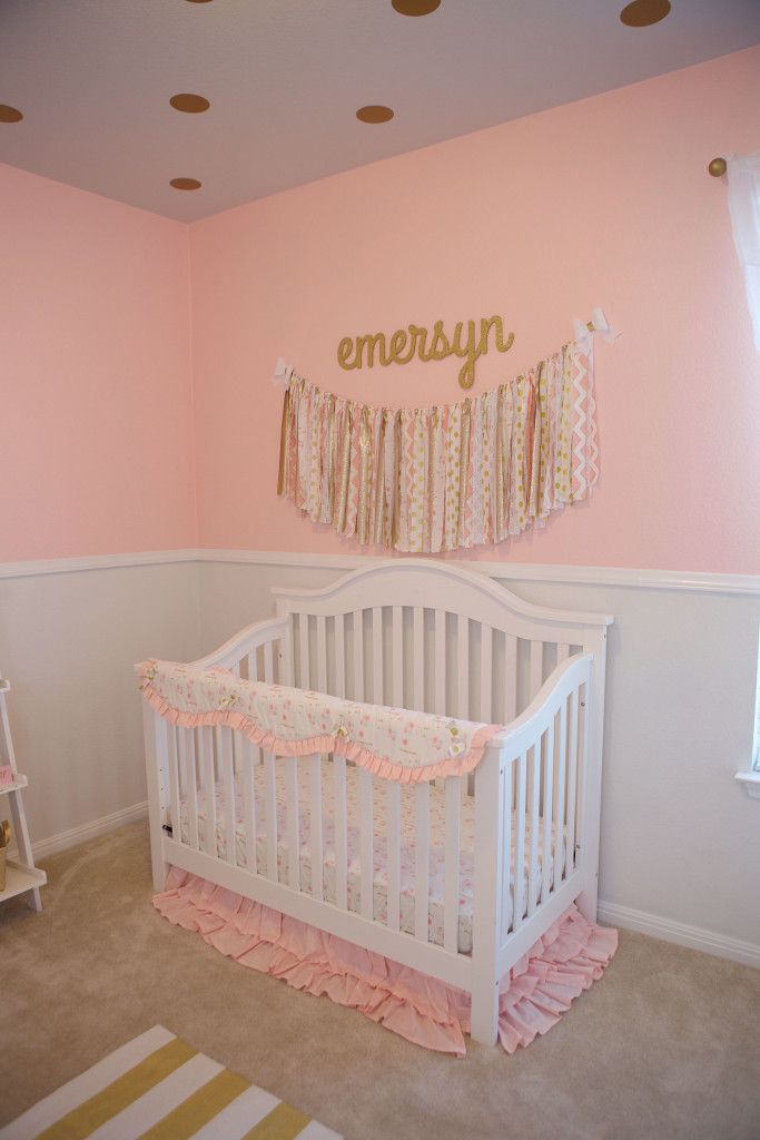 I Love The Polka Dots On The Ceiling! Feminine Pink And Gold Nursery    Project