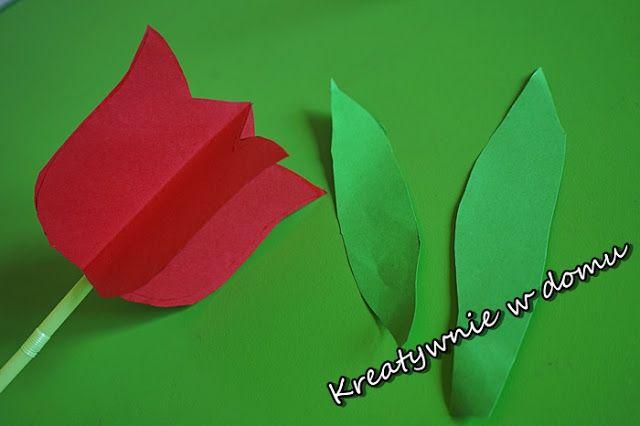 Tulipan Z Papieru W 5 Minut Kreatywnie W Domu