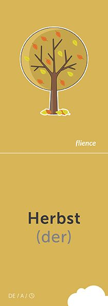 Herbst #CardFly #flience #time #german #education #flashcard #language