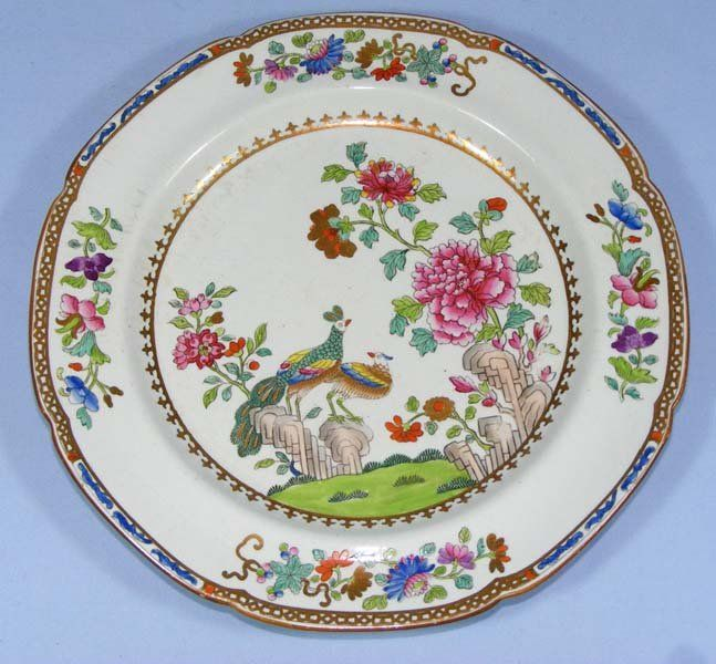 spode china | Copeland Spode Stone China Peacock Plate - Early!