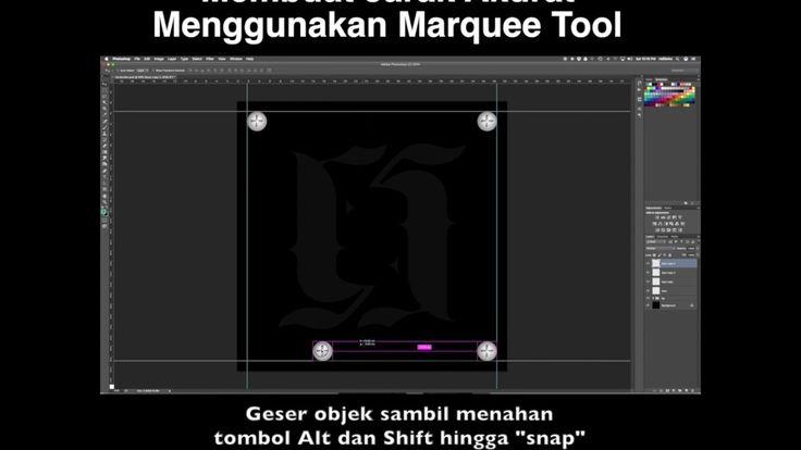 Tutorial 1 Menit : Photoshop : Membuat Jarak Akurat Menggunakan Marquee ...