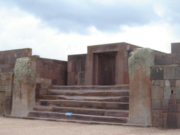 Ruins of Tiwanaku in Bolivia