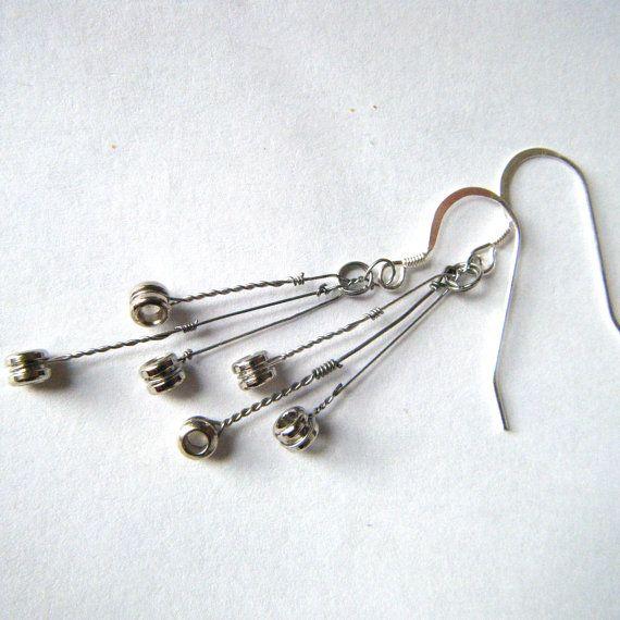 Cascade Guitar String Earrings.