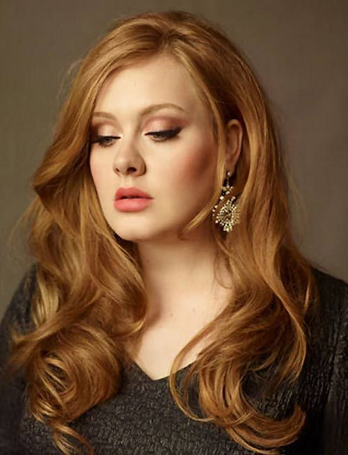 Adele Long Hairstyles..love this...romantic, soft lovely