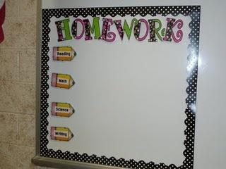 Where I write homework
