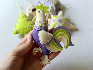 Шьем симпатичного петушка из фетра | Ярмарка Мастеров - ручная работа, handmade