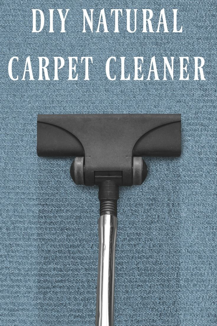 Looking for a way to clean your carpets yourself? Get one of those portable steam cleaners and whip up this DIY natural carpet cleaner!