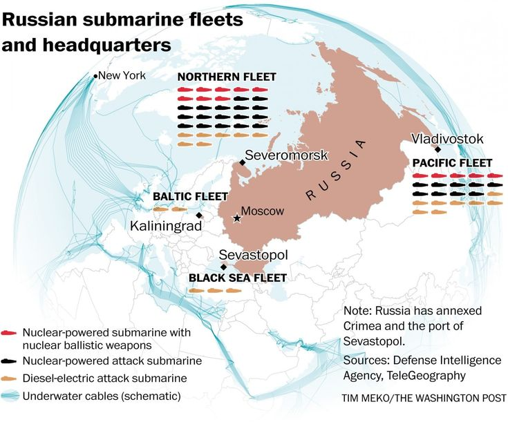 Russian submarines are prowling around vital undersea cables. It's making NATO nervous. - The Washington Post