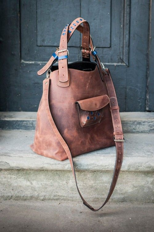 handmade brown bag handbag by ladybuq