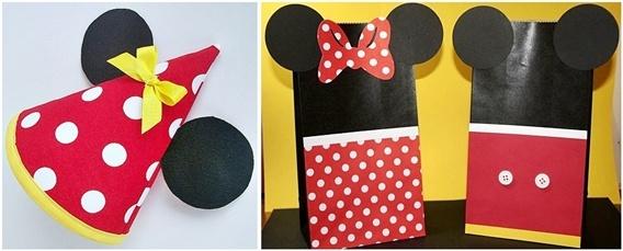 Festa da Minnie - chapéu e convites ou porta lembrancinhas