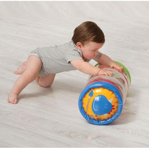 Cilindro hinchable gimnasia bebé. Para estimular el gateo.
