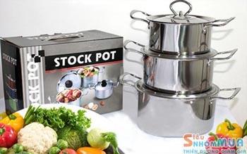 Bộ 3 nồi inox STOCK POT | SieuNhomMua TP HCM