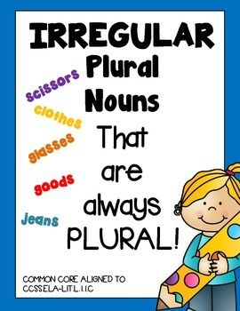 nouns that are always plural pdf