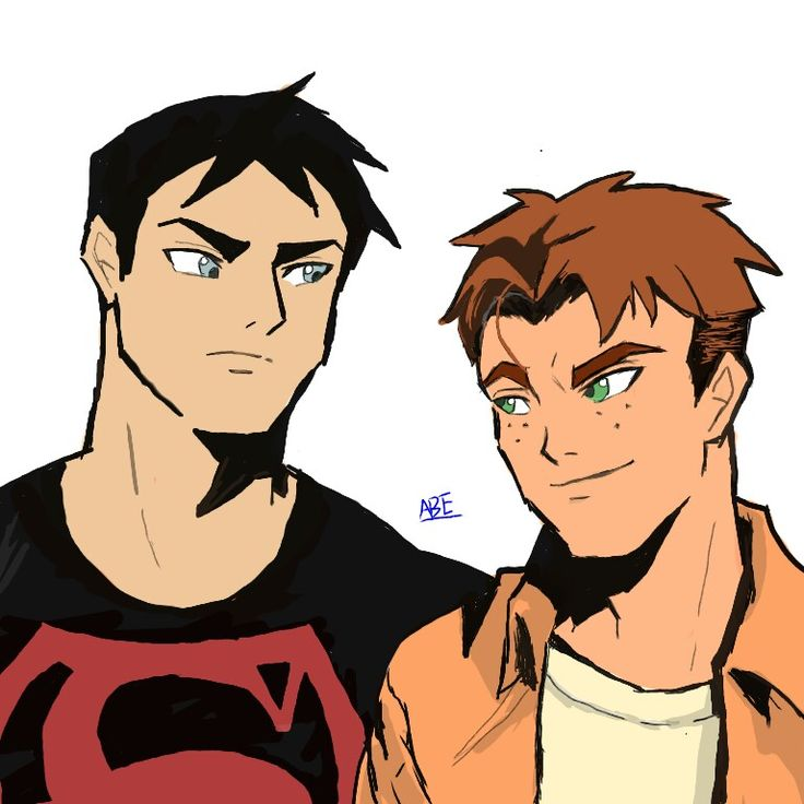 Young justice .super boy and kid flash.  I draw this picture.I love them.