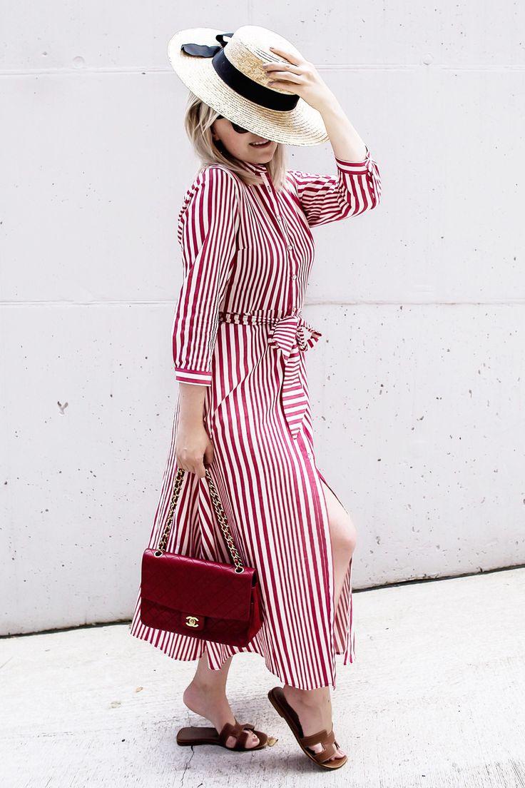zara, red dress, chanel, vintage