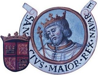 Sancho III Garcés (c. 992 – 18 October 1035), called the Great (Spanish: el Mayor, Basque: Nagusia), succeeded as a minor to the Kingdom of Navarre in 1004, and through conquest and political maneuvering increased his power, until at the time of his death in 1035 he controlled the majority of Christian Iberia, bearing the title of rex Hispaniarum.