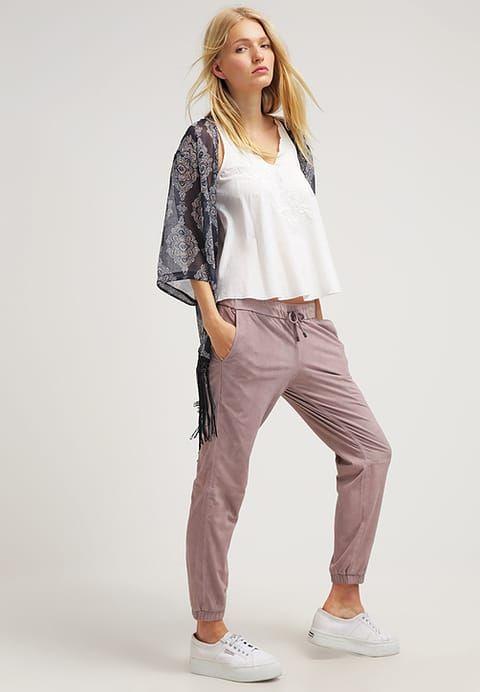 Spodnie skórzane - macaque pink - Zalando.pl