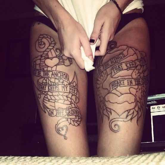 1000+ Ideas About Thigh Quote Tattoos On Pinterest