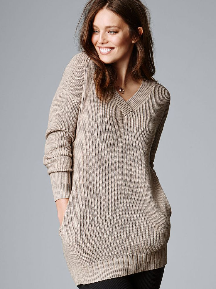 Ribbed Double-V Tunic - A Kiss of Cashmere - Victoria's Secret