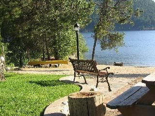 Beach Front Cabin on Kootenay Lake, one of the nicest beaches on the lake.Vacation Rental in Nelson from @homeaway! #vacation #rental #travel #homeaway