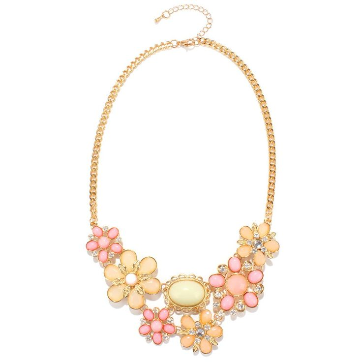 Charming Faux Opal Floral Necklace For Women #CLICK! #clothing, #shoes, #jewelry, #women, #men, #hats, #watches