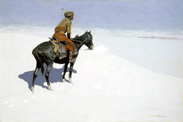 Frederic Remington The Scout Friends or Foes - Frederic Remington - Wikimedia Commons