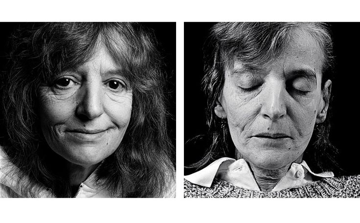 Walter Schels is a German photographer born in 1936 and famous for his portraits. In 2003, he produced a series of portraits entitled Noch mal leben , with journalist Beate Lakotta 1 in palliative care units to meet with condemned patients and question them about their anxieties.   Everyone is photographed alive then, again, after his death.