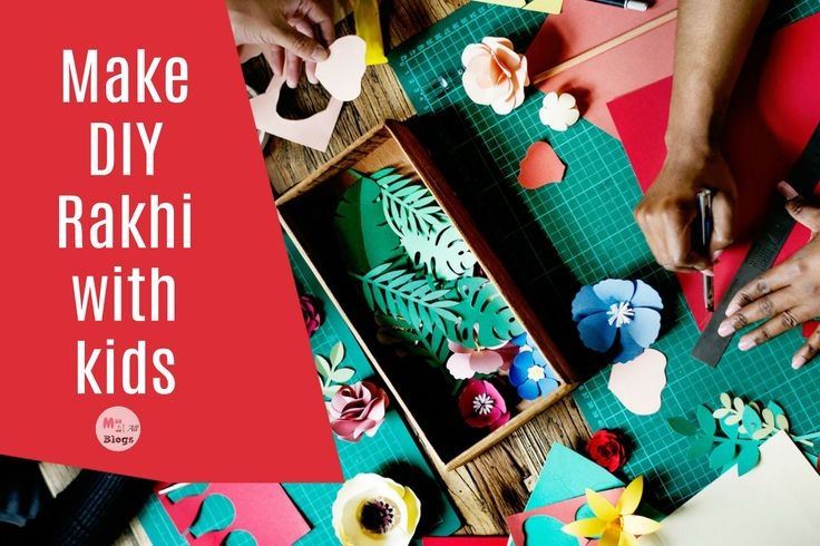 This Rakhi get your kids to make some DIY Rakhis and make the occasion more personal. Here is a list of some simple ideas compiled from different blogs.