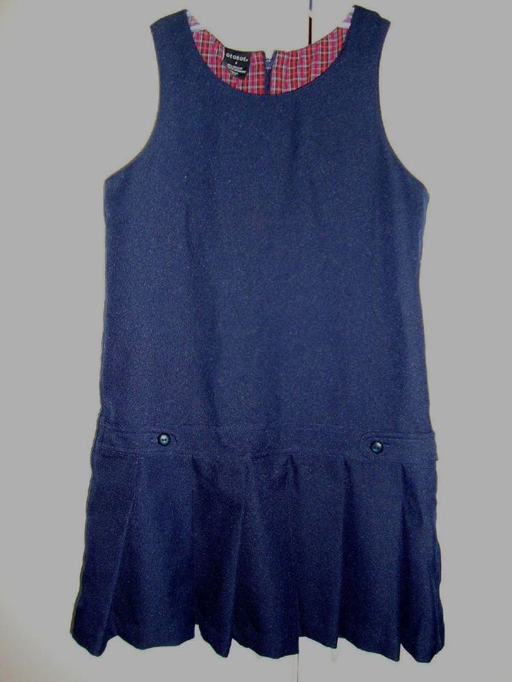 EUC Size 8 Youth Girls George School Jumper Navy Blue #George #JumperDress