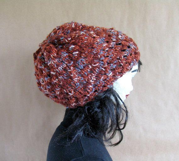Slouch hat tam rasta beanie beret  dread cap by recyclingroom, $29.00
