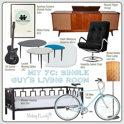 Making it Yours 7C: Single Guy's Living Room