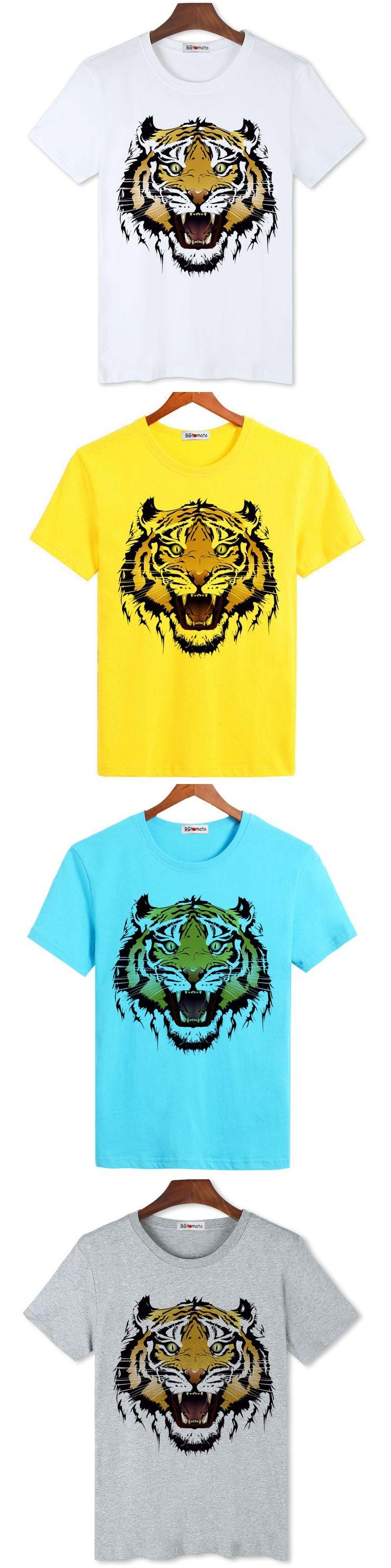 BGtomato New arrival popular Tiger print t shirt men hot sale active 3D shirt Brand good quality comfortable modal tops shirts
