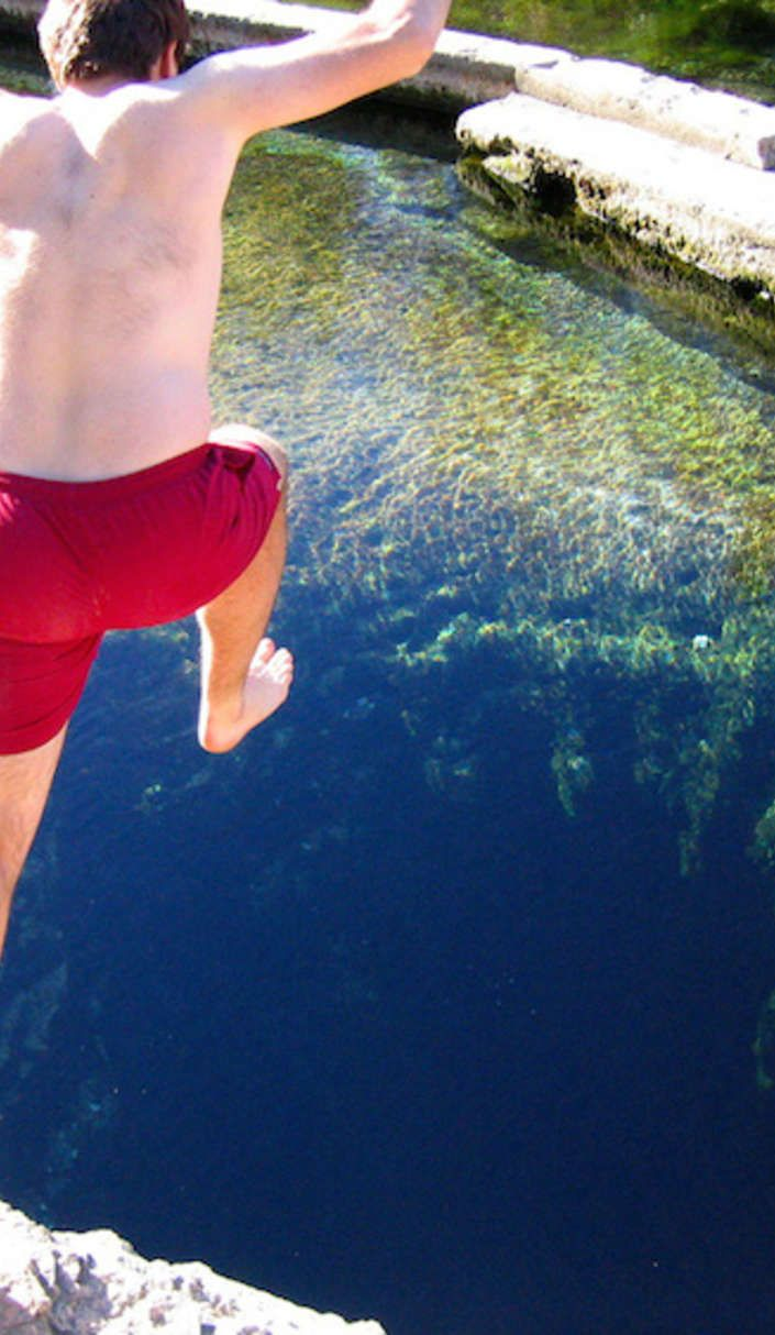 This underwater cave is also an incredible Texas swimming hole