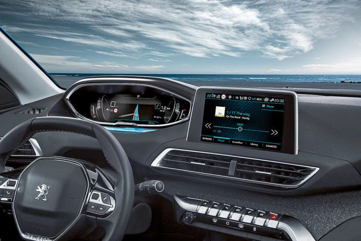 2017 Peugeot 5008 dashboard: Elegant and sporty interior.
