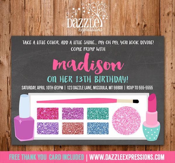 Best 25 Teen birthday invitations ideas – Teenage Girl Birthday Party Invitations