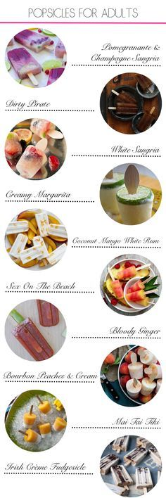 10 adult popsicle recipes for the weekend; alcoholic popsicles; poptails