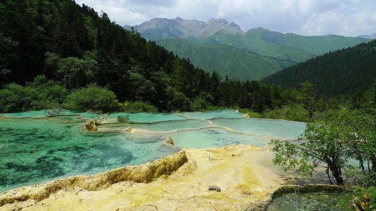 Huanglong Scenic Valley in Sichuan, China